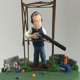 Man Topper Clay pigeon shooting
