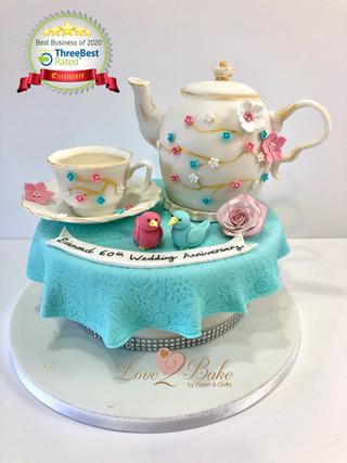 Teapot afternoon tea cake
