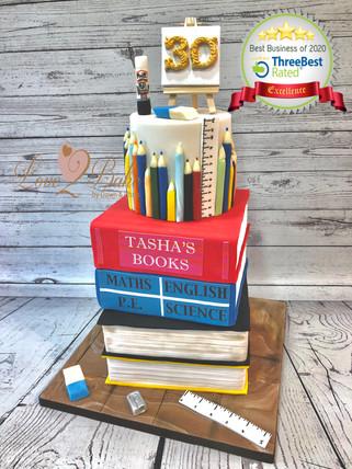 School Books Cake