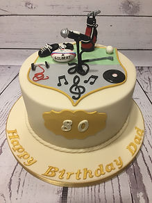 Life Cake - rugby, music, golf