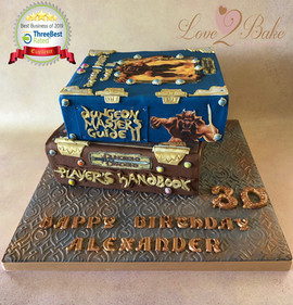 Dungeon & Dragon Book Cake by Love2bake
