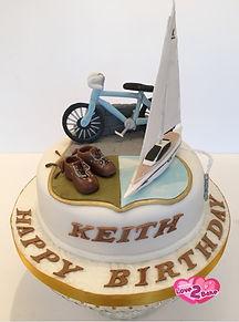 Life Cake - sailing, walking, cycling