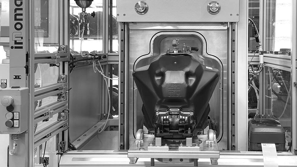 BMS Blow Molding technology Helium Leak Test for fuel tanks