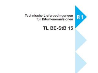 Neue Bitumenemulsions-Bezeichnungen nach TL BE-StB 15