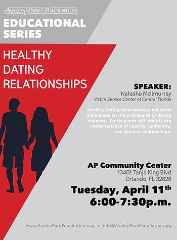 Education Series - Healthy Dating Relati