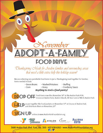 Nov AdoptAFamily Food Drive 2019 8.5x11