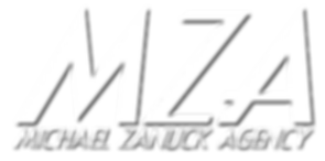 Michael Zanuck Agency MZA Logo talent agent commercial movie television music entertainment agent