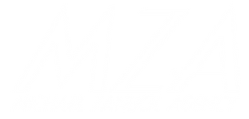 Michael Zanuck Agency MZA logo white talent agent