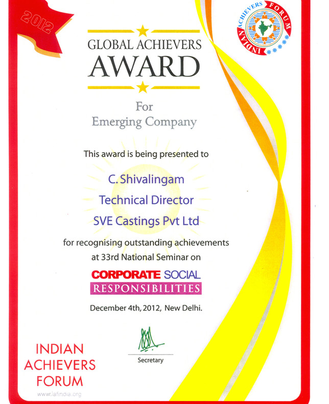 Globle Achivers Award