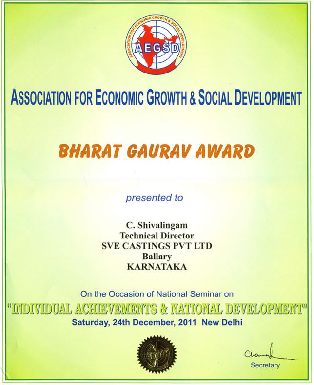 BHARAT GOURAV AWARD