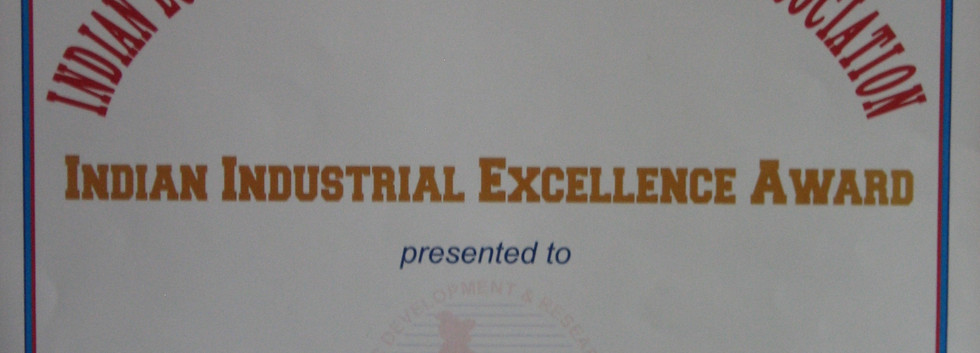 INDIAN INDUSTRIAL EXCELLENCE AWARD