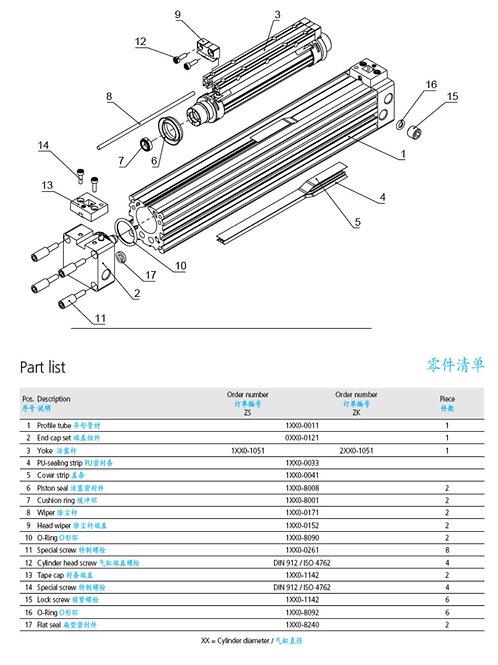 Air Cutter Spare Parts (Full Set)