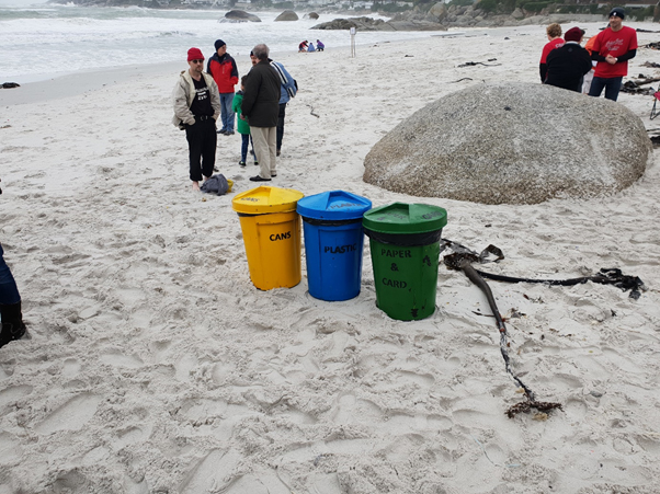 1st Muizenberg going green and doing their bit for the environment.