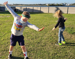 Practising cartwheels before a meeting