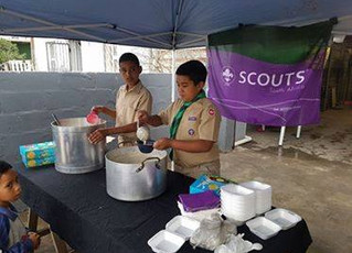 Scouts Lend a Hand