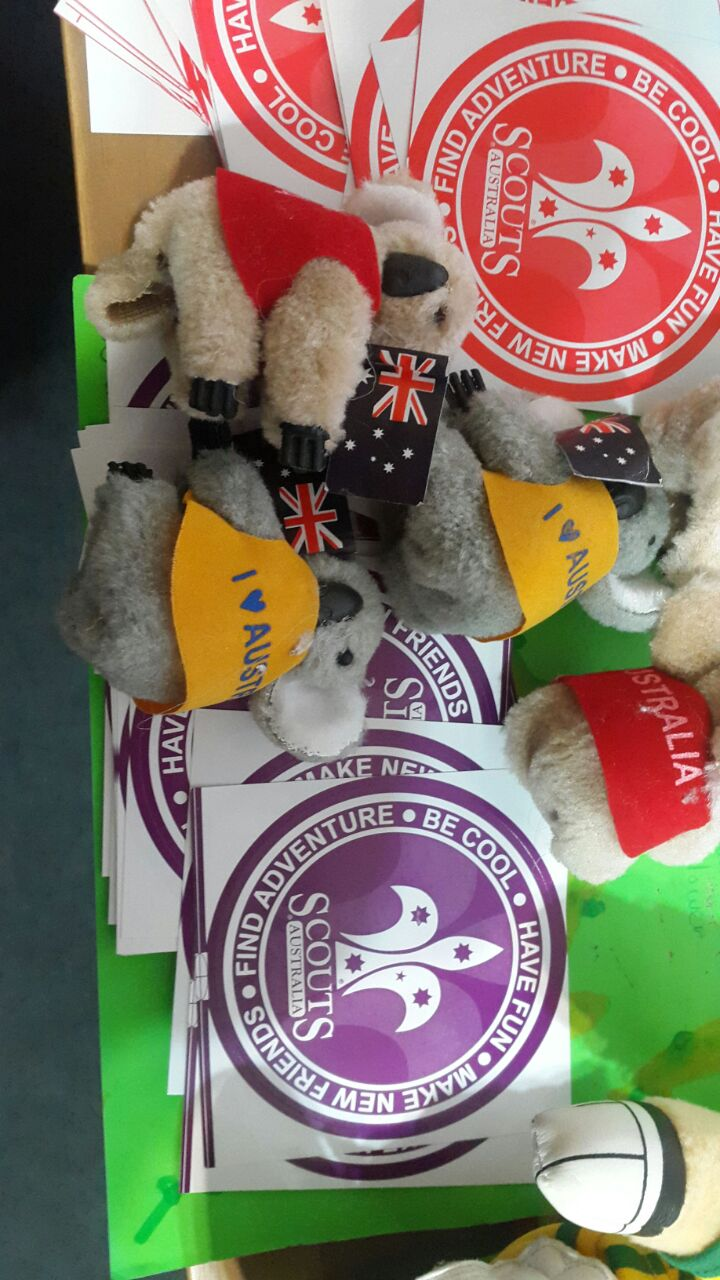 Koalas and stickers from 3rd Engadine (Don Bosco) in Sydney