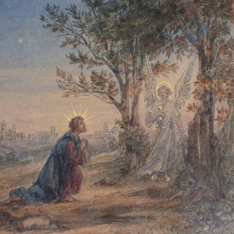 Une étude d'Étienne Raffort pour le décor de l'église de Gergy