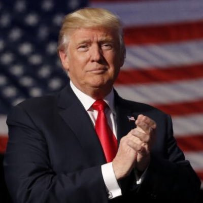 President Trump's official Twitter display picture.