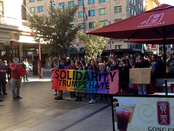 A Review of the Pride March Against Trump and Turnbull - Saturday 10/6/17