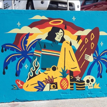 BONDI BEACH WALL || Mural Art