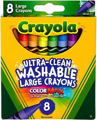 Crayola Large Washable Crayons-12 Pack