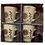 Thumbnail: 4pc Cappuccino Tea Cup Set