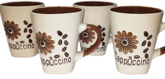 4pc Cappuccino Tea Cup Set