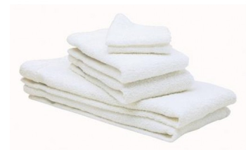 Basic White Economy Towel