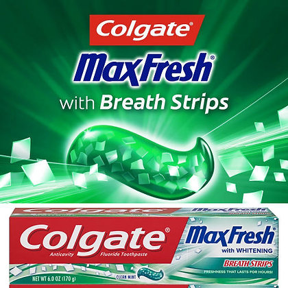 Colgate Max Fresh with Whitening Breath Strips