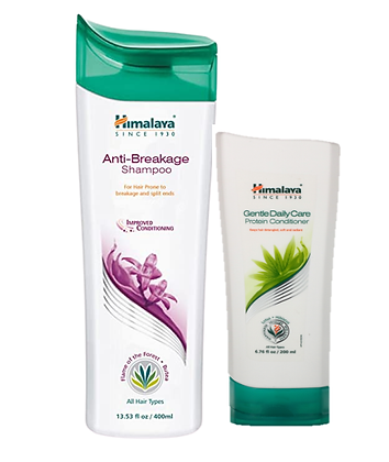 Himalaya Anti-Breakage Shampoo and Gentle Daily Care Protein Conditioner-Combo