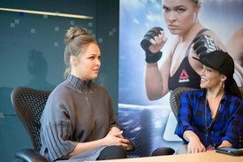 Ronda Rousey interview @ EA Games HQ