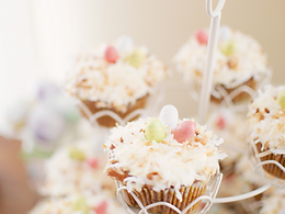 Easter Nest Coconut Cupcakes