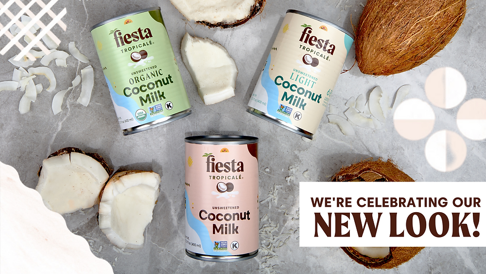 Fiesta Tropicale introduces new package design for all Coconut products: Organic Coconut Milk, Light Coconut Milk and Coconut Milk.