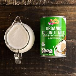 Organic coconut milk for coconut milk recipes