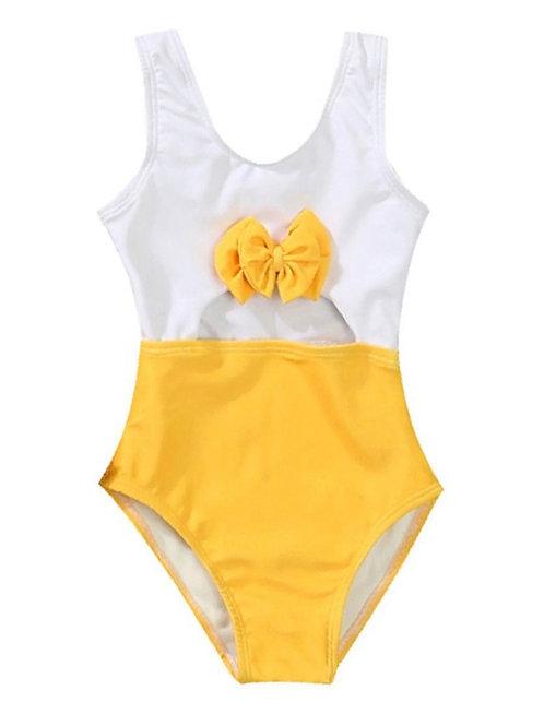 Girls' 'Youthful' Yellow Swimsuit