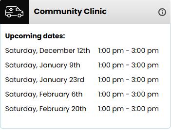 upcoming vet clinics