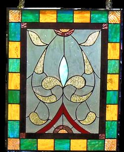 000298-Rectangular Antique Glass