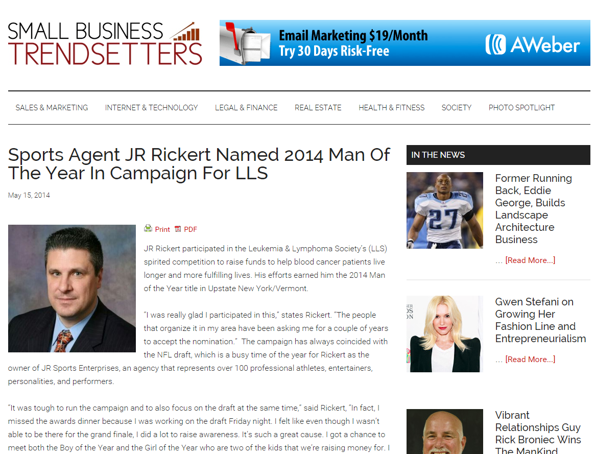 Sports Agent JR Rickert