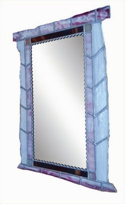 000524-Rectangular Mirror with Hand-rolled Glass