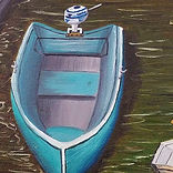 boat with outboard motor