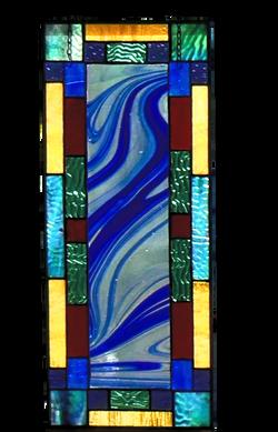 000299-Rectangular Abstract Antique Glass