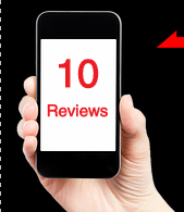 Consumers will look up 10 Reviews before choosing your business