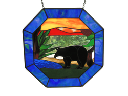 Octagon Panel with Bear