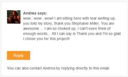 Andrea Dawson testimonial