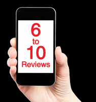 Consumers will look for 6-10 Reviews before choosing to do business with you