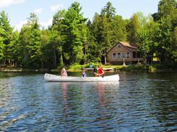 Canoe on Pocomoonshine Lake