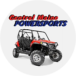Central Maine Powersports logo with ATV