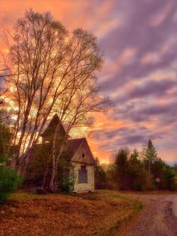 Abandoned Church in LaGrange, Maine