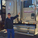 Fred Brownlee next to his truck