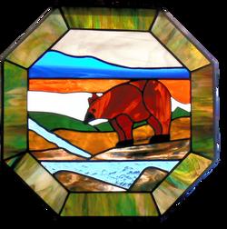 000300 Octagon open bear panel